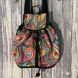 Lesportsac Paisley Drawstring Side ZIP Backpack
